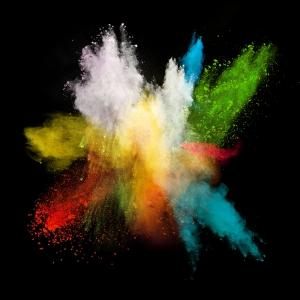 Renkli Patlama Dijital ve Fantastik Kanvas Tablo