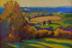 Renkli Vadi, Doğa Manzarası Modern Sanat Kanvas Tablo