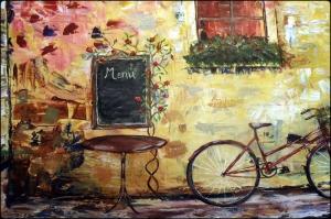 Restaurant Paris, Fransa 2 Yağlı Boya Dekoratif Kanvas Tablo