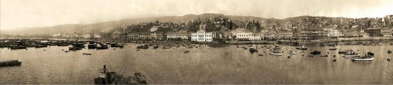 Retro 1910 Panaromik Kanvas Tablo