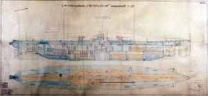 Retro Denizaltı Planı Askeri Kanvas Tablo