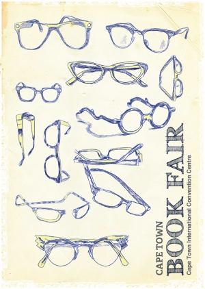 Retro Eski Çizim Poster Gözlük Optik Kanvas Tablo