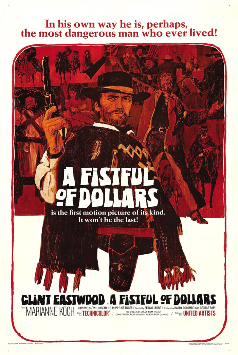 Retro Eski Poster Client Eastwood Film Afiş Kanvas Tablo