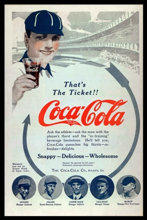 Retro Eski Poster Coca Cola Reklam Kanvas Tablo