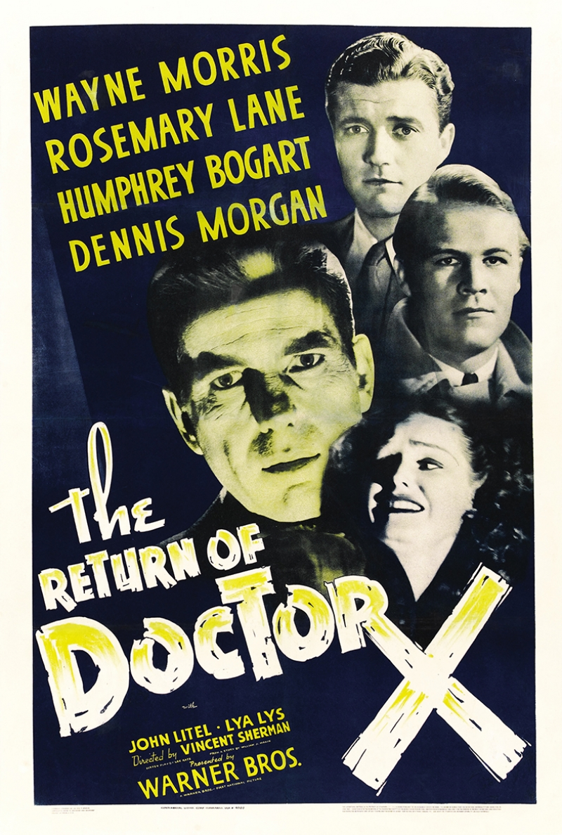 Retro Eski Poster Doktor X Film Kanvas Tablo