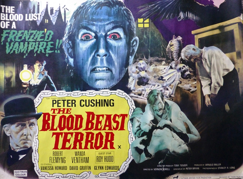 Retro Eski Poster Korku Film Afış-4 Kanvas Tablo
