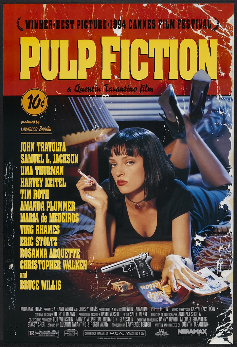 Retro Eski Poster Pulp Fuction Eski Film Kanvas Tablo