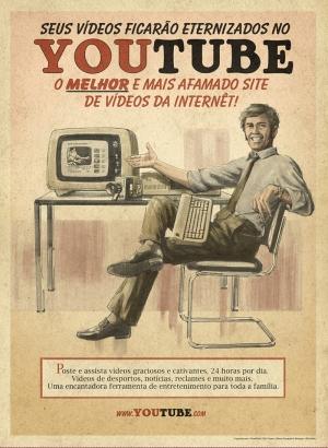 Retro Eski Poster Sosyal Medya Youtube Kanvas Tablo