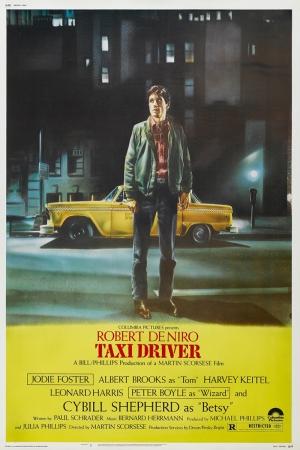 Retro Eski Poster Taxi Driver Robert De Niro Film Kanvas Tablo