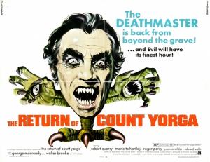 Retro Eski Poster Vampir Film Korku Kanvas Tablo