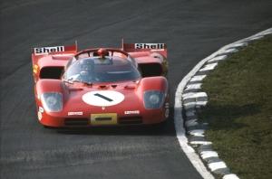 Retro Ferrari Yarış Otomobil Araçlar Kanvas Tablo