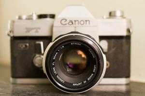Retro Fotoğraf Makinası Fotoğraf Kanvas Tablo