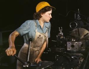 Retro İşçi Kadın 5 Fotoğraf Kanvas Tablo