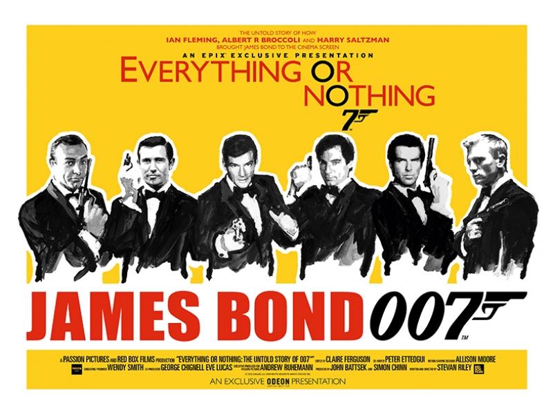 Retro james Bond Poster Kanvas Tablo