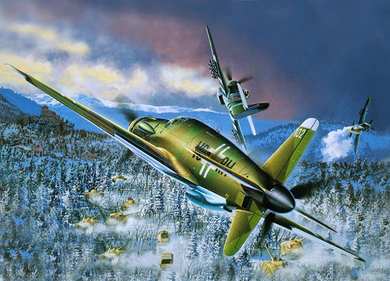 Retro Savaş Uçağı Çizimi Askeri Kanvas Tablo 11