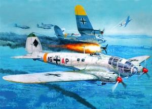 Retro Savaş Uçağı Çizimi Askeri Kanvas Tablo 7