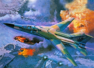 Retro Savaş Uçağı Çizimi Askeri Kanvas Tablo 9