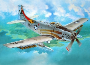 Retro Savaş Uçağı Çizimi Askeri Kanvas Tablo