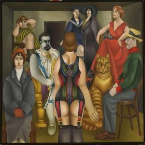 Richard Lindner Toplanti Yagli Boya Klasik Sanat Kanvas Tablo