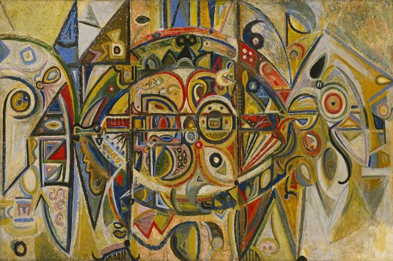 Richard Pousette Dart Col Yagli Boya Klasik Sanat Kanvas Tablo