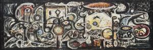 Richard Pousette Dart Figur Yagli Boya Klasik Sanat Kanvas Tablo