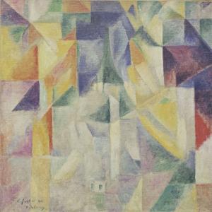 Robert Delaunay Pencereler Yagli Boya Klasik Sanat Kanvas Tablo
