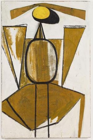 Robert Motherwell Sari ve Beyaz Yagli Boya Klasik Sanat Kanvas Tablo