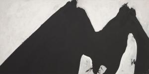 Robert Motherwell Siyah ve Beyaz Yagli Boya Klasik Sanat Kanvas Tablo