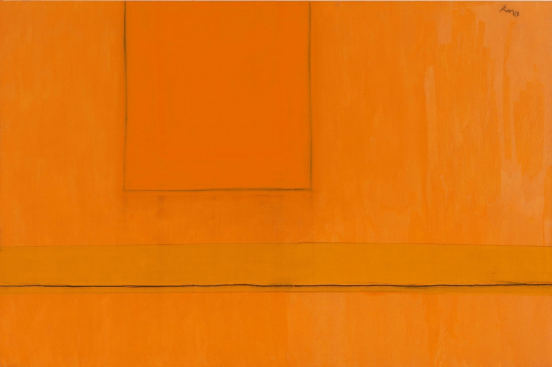Robert Motherwell Turuncunun Varyasyonlari Yagli Boya Klasik Sanat Kanvas Tablo