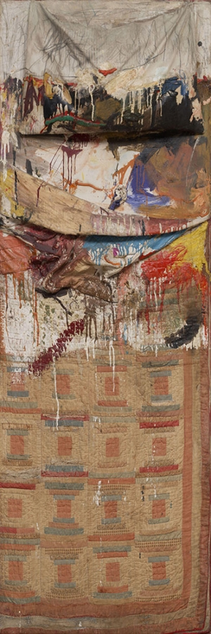 Robert Rauschenberg Yatak Yagli Boya Klasik Sanat Kanvas Tablo