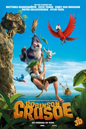 Robinson Crusoe-3 Film Afişi Sinema Kanvas Tablo