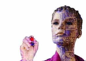 Robot Kadın Popüler Kültür Kanvas Tablo