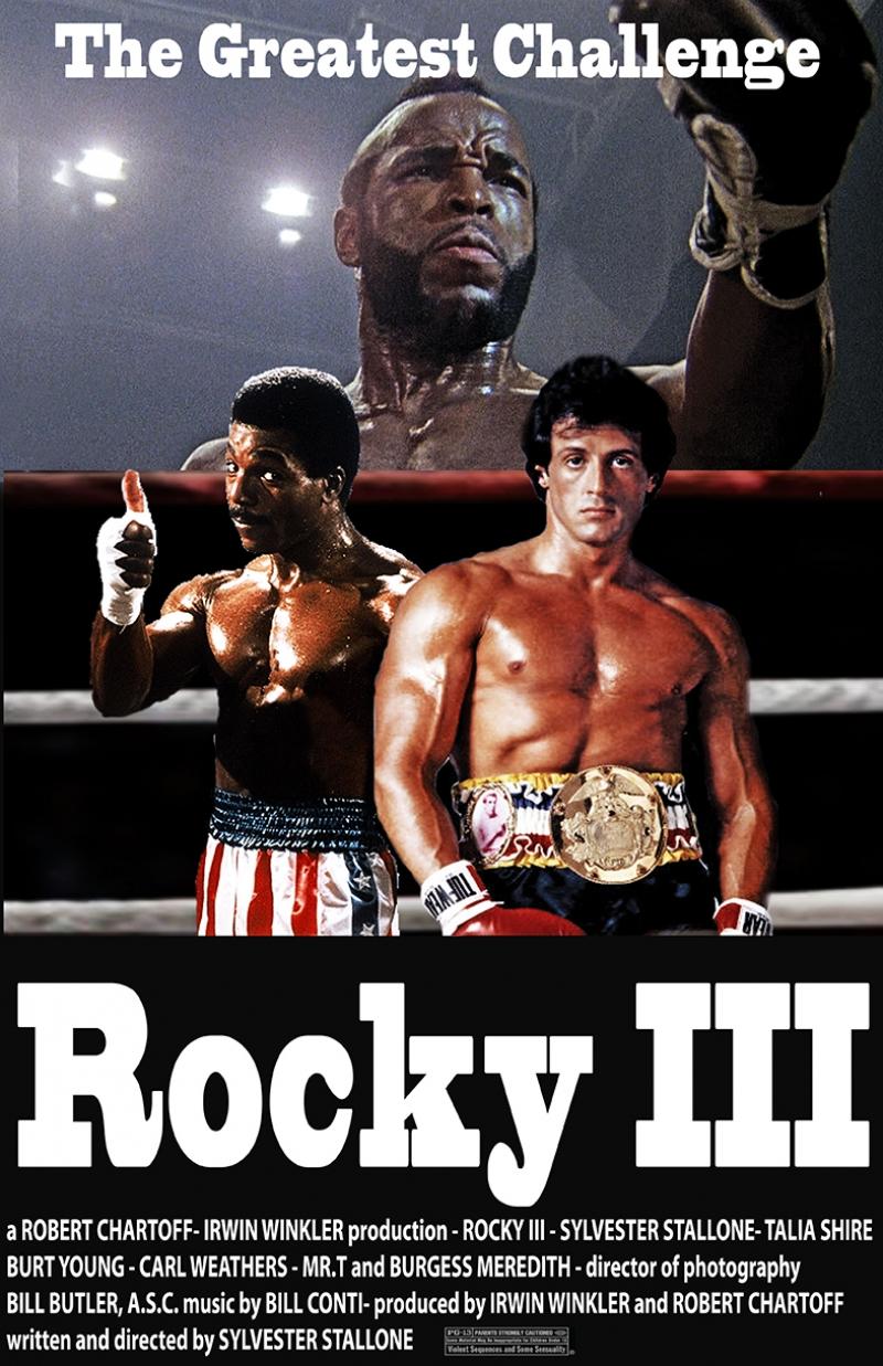 Rocky 3 Afiş Kanvas Tablo 2