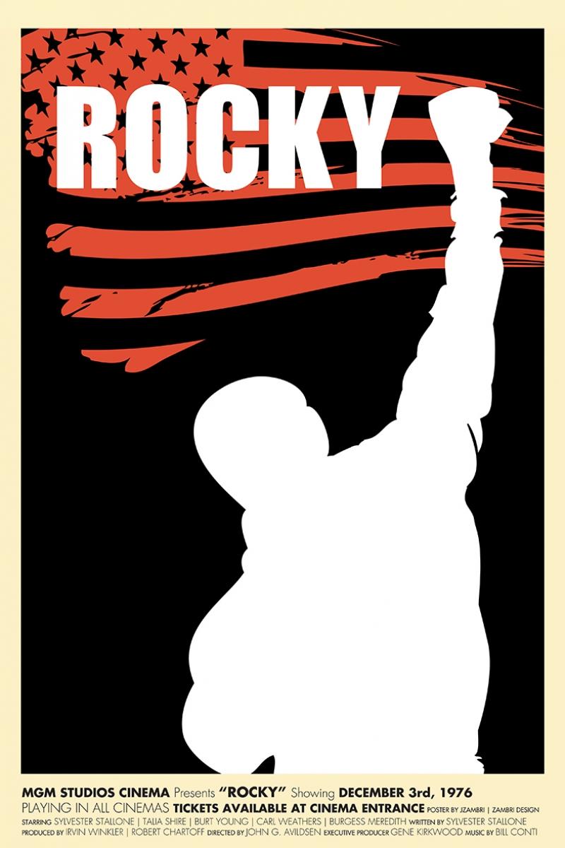 Rocky İllustrasyon Kanvas Tablo
