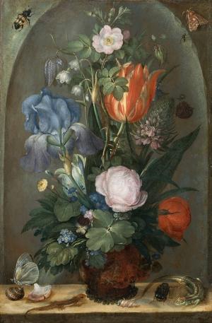 Roelant Saverij 1  Vazo İçinde Çiçekler Klasik Sanat Kanvas Tablo