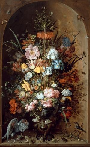 Roelant Saverij 2 Vazo İçinde Çiçekler Klasik Sanat Kanvas Tablo