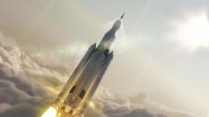 Roket Dünya & Uzay Kanvas Tablo