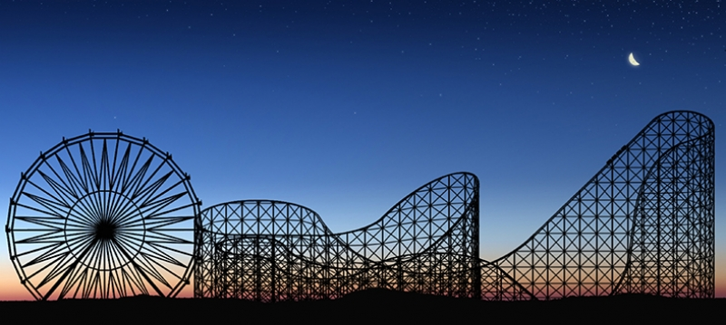 Roller Coaster Fotoğraf Kanvas Tablo
