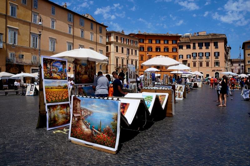 Roma İtalya Şehir Manzara Dünyaca Ünlü Şehirler Kanvas Tablo