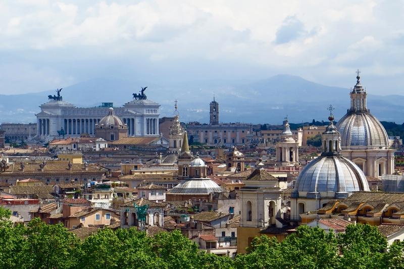 Roma İtalya Şehir Manzarası-1 Dünyaca Ünlü Şehirler Kanvas Tablo
