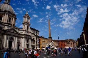 Roma İtalya Şehir Manzarası-2 Dünyaca Ünlü Şehirler Kanvas Tablo