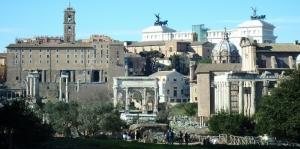 Roma İtalya Şehir Manzarası-4 Dünyaca Ünlü Şehirler Kanvas Tablo