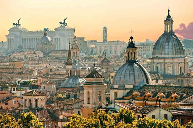 Roma İtalya Şehir Manzarası Dünyaca Ünlü Şehirler Kanvas Tablo