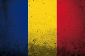 Romanya Bayrağ-2, Eskitilmiş Retro Romanya Bayrağı Kanvas Tablo