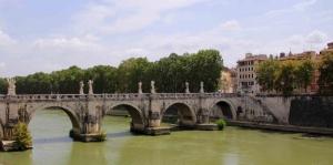 Rome Tarihi Köprü İtalya Şehir Manzaraları Kanvas Tablo