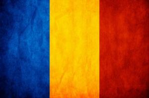Romen Bayrağı, Eskitilmiş Retro Romanya Bayrağı Kanvas Tablo