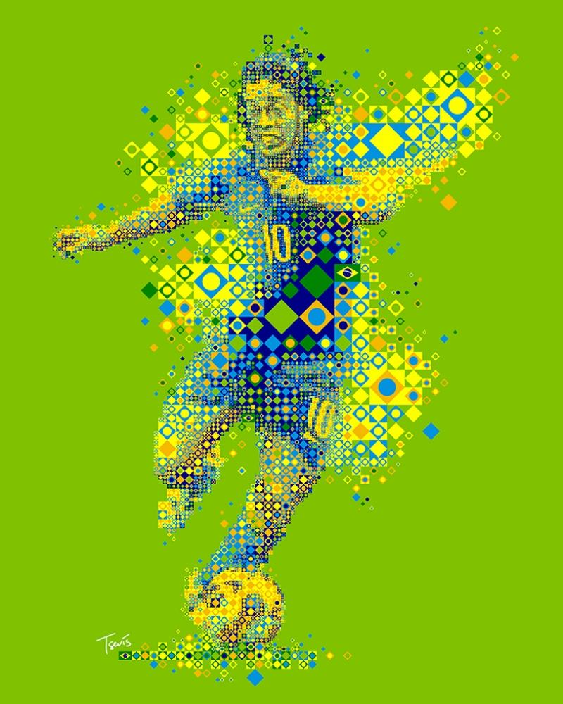 Ronaldinhio Brezilya Spor Kanvas Tablo
