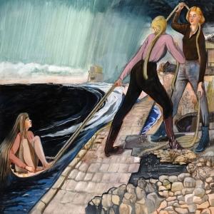 Rosa Loy Landung Klasik Sanat Kanvas Tablo
