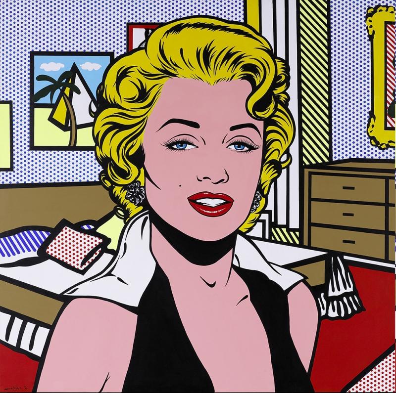 Roy Lichtenstein Marilyn Monroe Popart Retro & Motto Kanvas Tablo