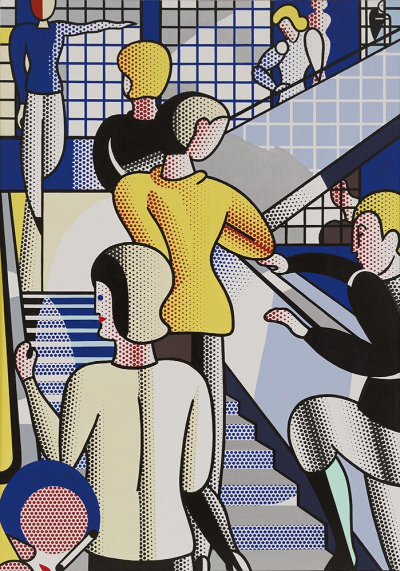Roy Lichtenstein Merdiven Yagli Boya Klasik Sanat Kanvas Tablo